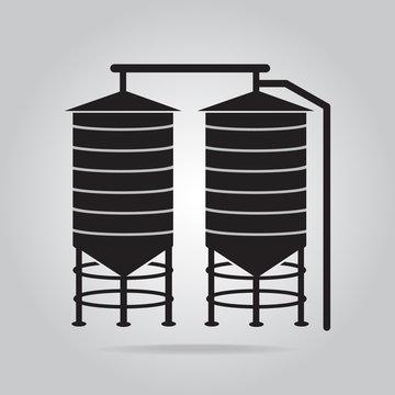 Agricultural silo icon