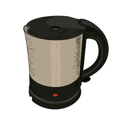 Vector color sketch of electric kettle.