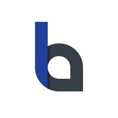 Initial Letter LA Logo