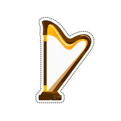 The harp is a stringed musical instrument