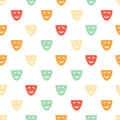 colored comedy pattern