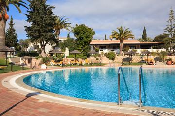 Outdoor swimming pool in luxury resort