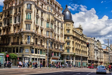 Fototapete - Madrid, Gran Via