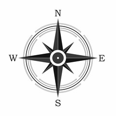 Compass icon on white background. Vector illustration
