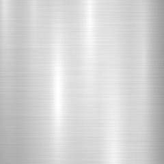 Fototapete - Metal abstract technology background with polished, brushed texture, chrome, silver, steel, aluminum for design concepts, web, prints, posters, wallpapers, interfaces. Vector illustration.