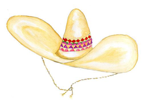Sombrero Hat Watercolor