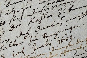 Barocke Handschrift