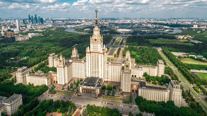 Lomonosov Moscow State University aerial view