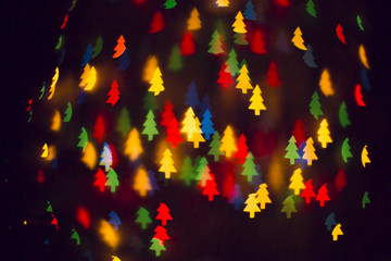 christmas tree bokeh background.