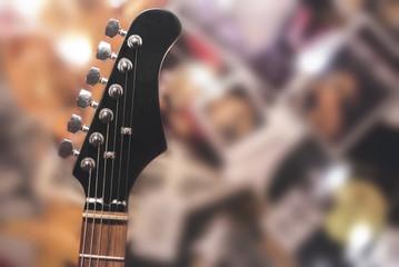 guitarra eléctrica con fondo