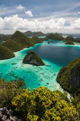 Aluminium Prints Indonesia Limestone Islands in Raja Ampat