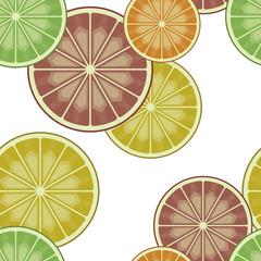 Orange lime lemon grapefruit slices pattern