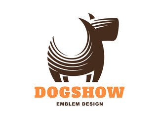 Dog logo - vector illustration, emblem on white background