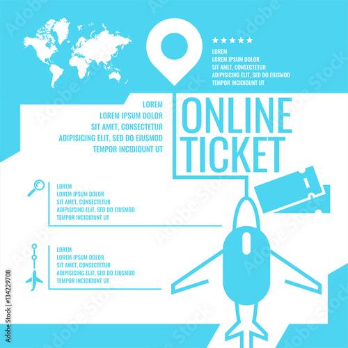 "Buy Travel Tickets Online: ""Travel Infographics. Buy Air Tickets."" Fichier Vectoriel"