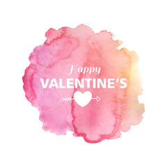 Vector Illustration of a Watercolor Valentines Day Design