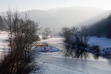 Oberes Donautal im Winter bei Thiergarten
