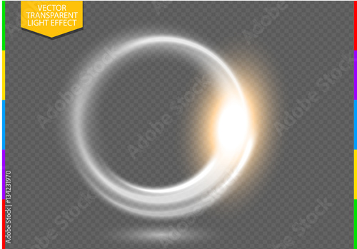 Glow light effect. Stardust on a transparent background. Lights on ...