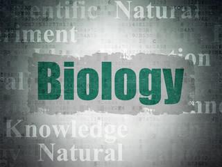 Science concept: Biology on Digital Data Paper background