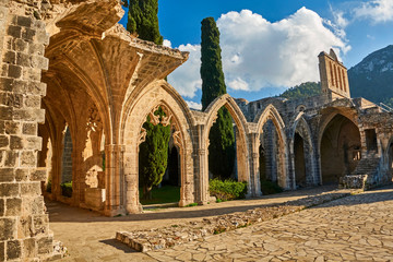 Fotobehang Rudnes Bellapais Abbey in Kyrenia, Northern Cyprus