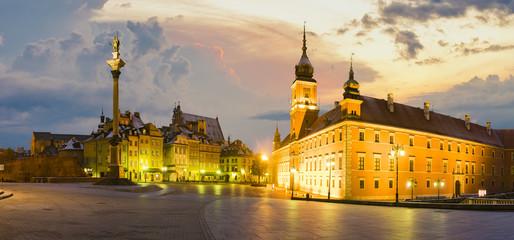 Warsaw,Poland-November 2016:Royal Castle and Sigismund's Column