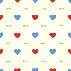 Seamless pattern from hearts, a romantic vector background