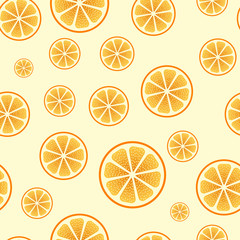 Seamless orange cut yellow vector background.