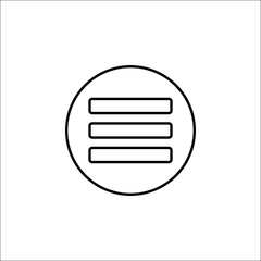 Menu line icon, mobile sign and hamburger pictogram, vector graphics, a linear pattern on a white background, eps 10.