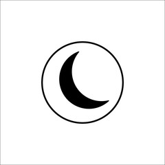 Sleep mode solid icon, mobile sign and new moon pictogram, vector graphics, a filled pattern on a white background, eps 10.