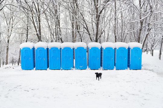 Portable plastic bio toilets
