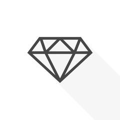 Diamond Icon Flat Graphic Design - vector Illustration