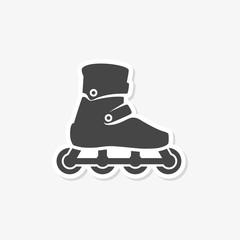 Roller Skates sticker Flat Graphic Design - vector Illustration