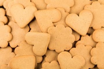 Gingerbread hearts cookies