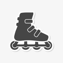 Roller Skates Icon Flat Graphic Design - vector Illustration