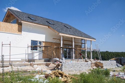 Renovate And Repair Residential House Facade Wall With Stucco,  Insulation,plastering, Painting Wall