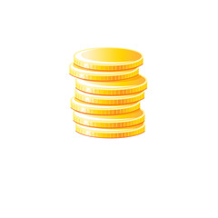 Graphic vector gold coins