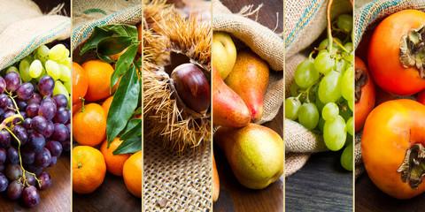 collage frutta invernale