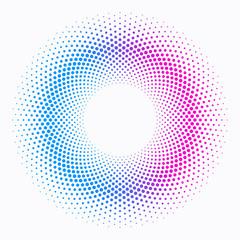 Polka Dot Circle #Blue and red_Cool and Warm