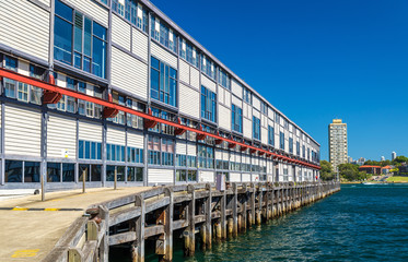 Warehouse offices on the waterfront of Dawes Point in Sydney
