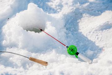 Fishing rod for winter fishing.