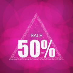 Discount the best offer with confetti on the sale of the holiday season. Vector