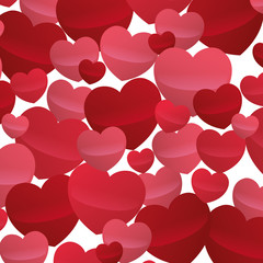 many hearts love decoartive valentine day design vector illustration eps 10