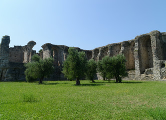 Ruins of the villa of catullus