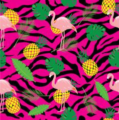 vector seamless flamingo