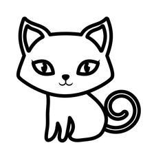 cat pet animal domestic outline vector illustration eps 10