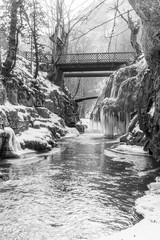 Bigar waterfall in black and white