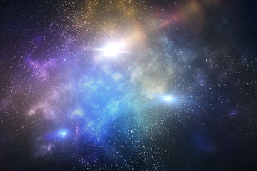 galaxy with stars