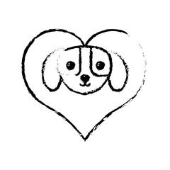 puppy domestic mammal love sketch vector illustration eps 10