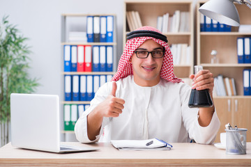 Young arab businessman in business concept
