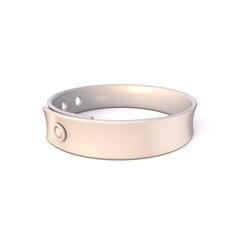 White rubber bracelet. 3D