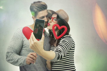 love couple do a selfie